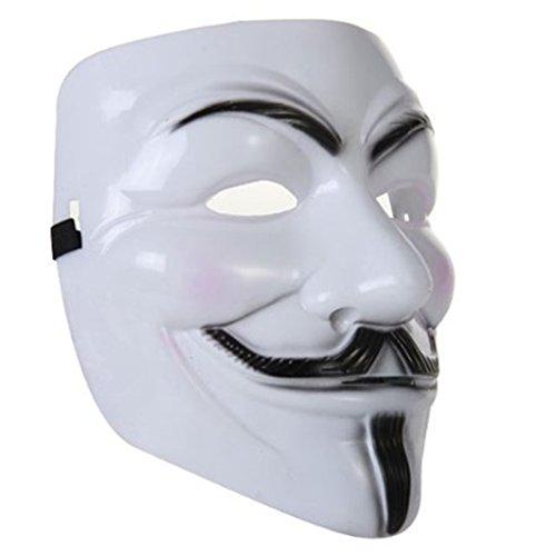 Preisvergleich Produktbild Maske V for Vendetta Weiß Anonymus Guy Fawkes Mask