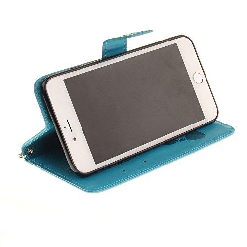 JIALUN-étui pour téléphone Avec slot pour carte, Lanyard, Pressure Beautiful Pattern Fashion Open Cell Phone Shell pour IPhone 7 Plus ( Color : 4 , Size : IPhone 7 Plus ) 2