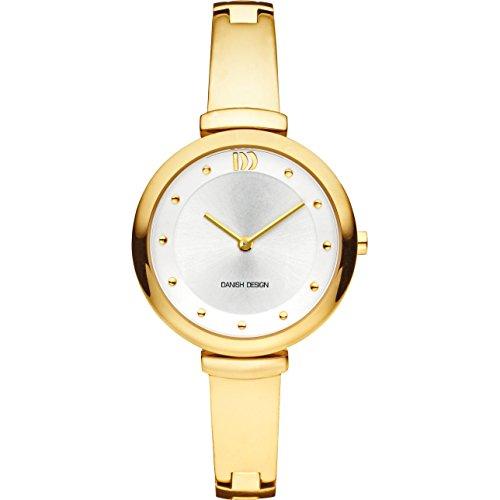 Danish Design Women's 32mm Gold-Tone Steel Bracelet & Case Quartz Silver-Tone Dial Analog Watch IV05Q1166