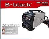 B-black 300 AMPERE SALDATRICE INVERTER con CAVI 3+2 MT. ELETTRODO PROFESSIONALE 300A