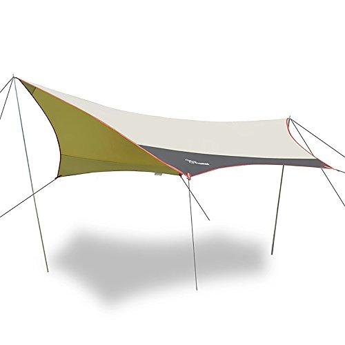 Bauhaus life Outdoor-Regen Markise Camping, UV-Schutz, Kühlung, Zelt Angeln Bergsteigen Kann Tun...