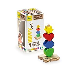 Erzi feliz Solo Junta de apilado de madera del juguete alemán