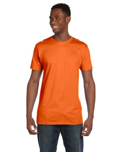 Hanes 4980 Mens Nano T-Shirt 1 Orange + 1 Purple