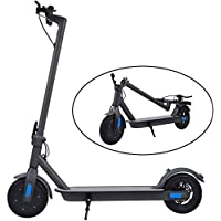 Electric Scooter, 25 km Long-Range, Up to 25 km/h with 8.5 inch Solid Rubber Tires, Portable and Folding E-Scooter for Adults and Teenagers