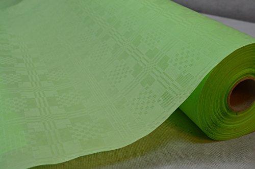 50 Meter Lang 100 Cm Breit Farbe: Hellgrün Tischdecke Papier Damastprägung Tischtuch...