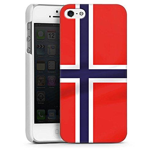 Apple iPhone 4 Housse Étui Silicone Coque Protection Norvège Norway Drapeau CasDur blanc