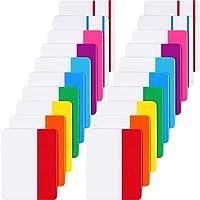 400 Piezas de Índice Adhesivas de 2 Pulgadas Etiquetas Adhesivas Banderas de Archivo Grabable y Reposicionable para Marcador de Página o Libro Escribir Notas Clasificar Archivos, 20 Juegos 10 Colores