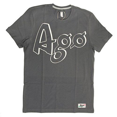 T-shirt Mention Manica Corta Giacomo Agostini, Colore: Dark Grey, Taglia: XL