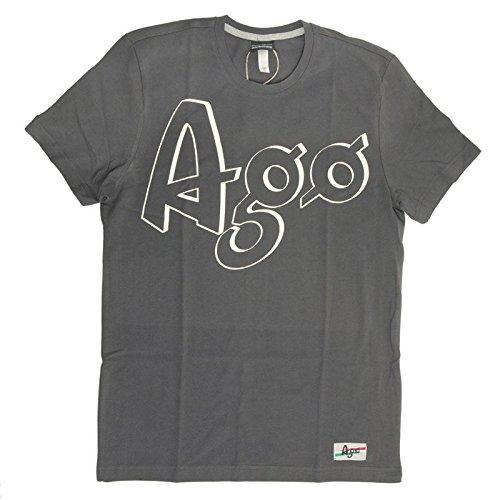 T-shirt Mention Manica Corta Giacomo Agostini, Colore: Dark Grey, Taglia: XL