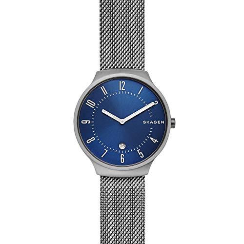 Skagen Herren Analog Quarz Uhr mit Edelstahl Armband SKW6517
