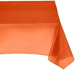 Mantel rectangular Amscan Internacional de Plástico (Orange)