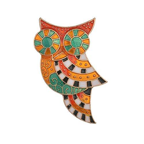kanggest Damen Brosche Retro Eule Anstecker Pins für Bluse Jacken Mantel Kleid für Das tägliche Tragen, Brosche Serie Zubehör Schmuck Bankett Geschenke
