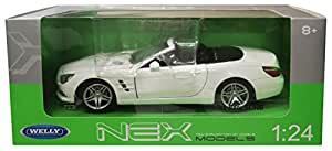 WELLY 1/24 Mercedes-Benz SL500 blanc convertible