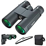 Kylietech 12X42 Binoculars for Adult HD Compact Waterproof & Fogproof Telescope BAK4 Prism