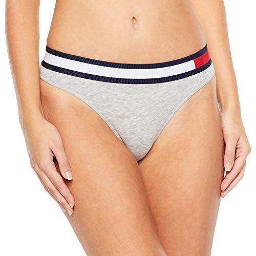 Tommy Hilfiger Damen Bikini Taillenslip, Grau (Grey Heather 004), No Aplica (Herstellergröße: SM) Utility Block