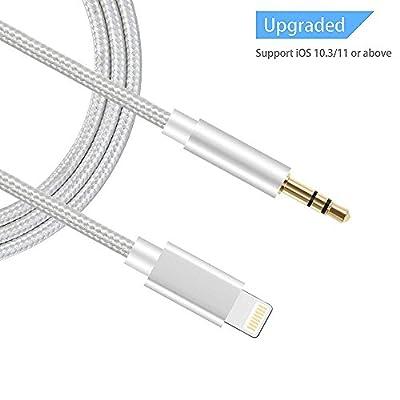 Vimmor Lightning vers mâle vers mâle 3,5mm en nylon tressé [] aux Cordon adaptateur audio câble répartiteur pour iPhone 8/8Plus/7/7Plus, iPad, téléphones Android, Home/Autoradios, prise en charge iOS 10.3pour iOS 11 par Vimmor EU