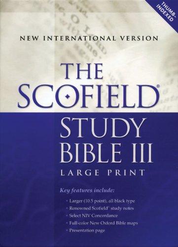 Scofield Study Bible III-NIV-Large Print (Scofield Study Bible-niv)