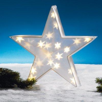 Hellum 568516 LED Holografie Stern 40 cm mit 12 warm-weißen LED's von Hellum auf Lampenhans.de