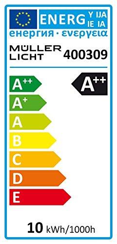 MÜLLER-LICHT LED Lampe Ersatz für Halogenstab, 1100 Lm, 2700 K, Plastik, R7s, 9.5 W, Weiß, 2.5 x 2.5 x 11.8 cm