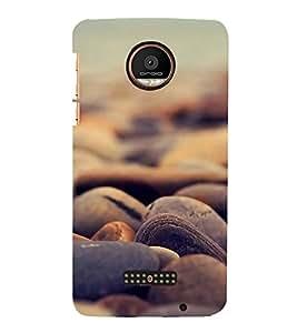 FUSON Sea Stones Background 3D Hard Polycarbonate Designer Back Case Cover for Motorola Moto Z Force :: Motorola Moto Z Force Droid for USA