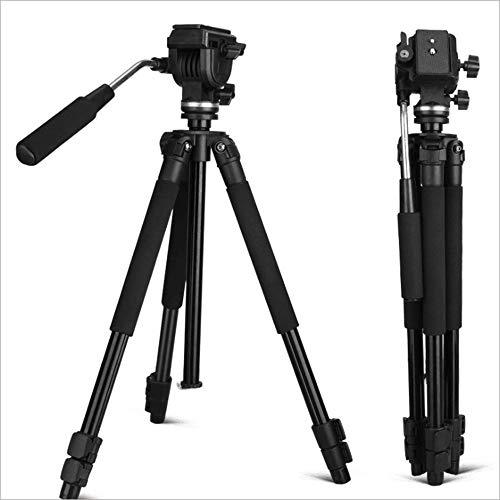 LMM Tragbares Reise-Kamerastativ mit Schwenk- / Neigefunktion, 360 ° -Panoramaaufnahme, mit Mittelachsenlift, Schwerkrafthaken und Makroaufnahme aus niedrigen Winkeln