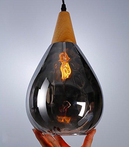 HAIYUANNAN Bunte Hängeleuchte, Glas Lampenschirm, 3 Größen, E27, 1,2m Kabel verbinden, Nicht Glühlampe einschließen, CL-3 - Cl-glühlampe