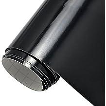 """12""""X 10ft negro brillante con respaldo de vinilo rollo para señal Conspiradores, cartas, adhesivos y cortadores de Craft, color negro"""