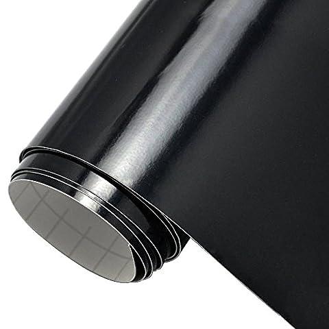 12''x10ft Glänzend Schwarz Kleber-unterstützte Vinyl rolle für Schild-Plotter, Buchstaben, Decals und Craft Cutters - Distintivo Punch