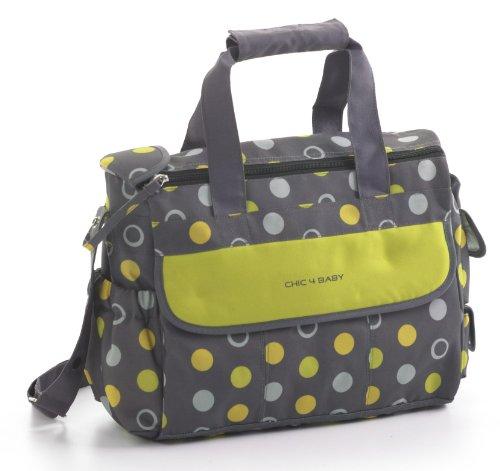 Chic 4 Baby 405 42 Wickeltasche Luxury, Lemontree, mit umfangreicher Ausstattung