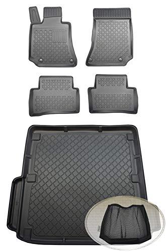 ZentimeX Z392763 Set Kofferraumwanne Gummifußmatten + Klettnetztasche (Laderaumwanne, Kofferraummatte, Automatten)