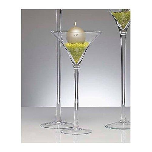 XXL Martiniglas, Bodenvase auf Fuß H. 50cm D. 25cm transparent rund Sandra Rich