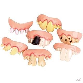 Lyanther 10 stück hässliche Zähne Halloween Party Prop Kostüm einfach Kunst