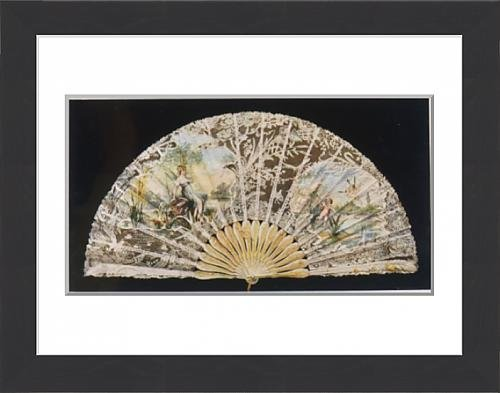 framed-print-of-fan-with-fairies