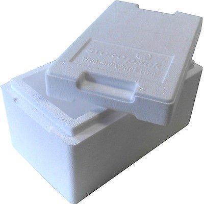 Isolierbox mit Deckel 4,7 L 330 x 200 x 185 mm Styroporbox Kühlbox Thermobox