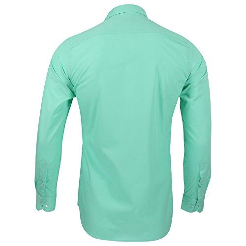 Captain Slim Fit Herren Hemden (in 24 Verschiedenen Farben) Langarm-Hemd 100% Baumwolle Mintgrün