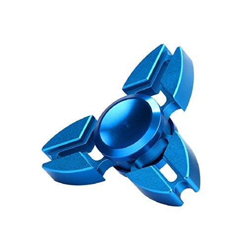 Preisvergleich Produktbild Hand Spinner, Lanspo Tri Fidget Hand Spinner Dreieck Finger Spielzeug EDC Focus Stress Reducer Gyro Spielzeug (Blau)