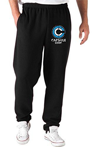 Cotton Island - Pantaloni Tuta TGAM0049 Logo capsule corp, Taglia XXL