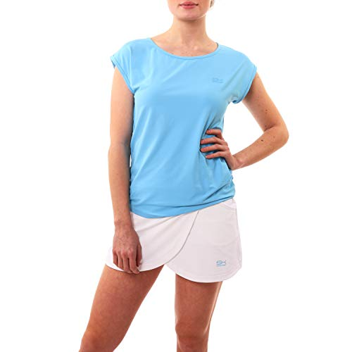Sportkind Mädchen & Damen Tennis, Fitness, Sport Loose Fit T-Shirt, hellblau, Gr. XXL