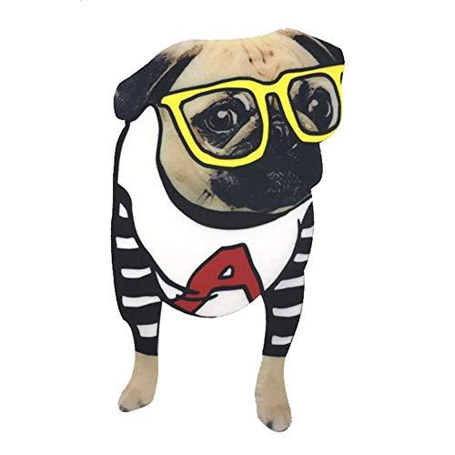 Lumanuby 1x Schön Hund Trägt Brille Patches für Mädchen und Damen T-Shirt Embroidery Tier Aufnähen für Jacken/Rucksäcke/Jeans von Dog Form, Aufnäher Serie Size 22 * 11cm
