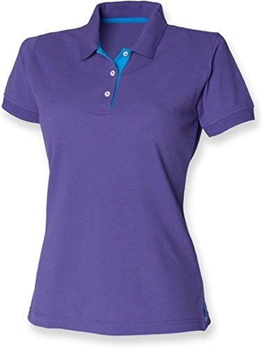 Henbury -  Polo  - Donna Purple/Sapphire