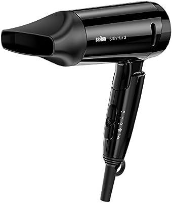 Braun Satin Hair 3 HD350 Style&Go - Secador de viaje iónico, color negro