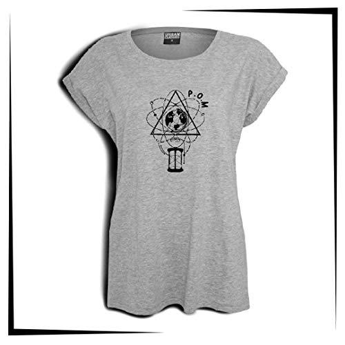 P.O.M Damen T-Shirt Bestickt