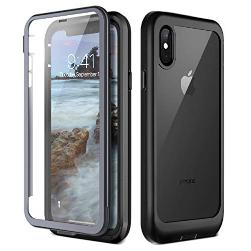 Prologfer Funda iPhone XS 360 Grados Transparente