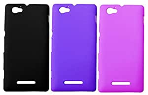 Winsome Deal 3 Pieces of Exclusive Quality Hard Back Cover Case For Sony Xperia M