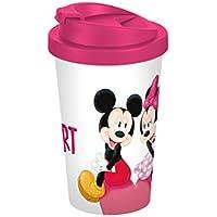 Disney Mickey Mouse Travel Coffee Mug Disney Mickey My Heart 400ml plastic 9x 9x 16.5cm White/Colourful