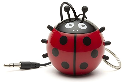 Kitsound Mini Buddy Speaker, Altoparlante Portatile Ricaricabile per iPhone, iPad, iPod, Smartphone, Tablet, Coccinella
