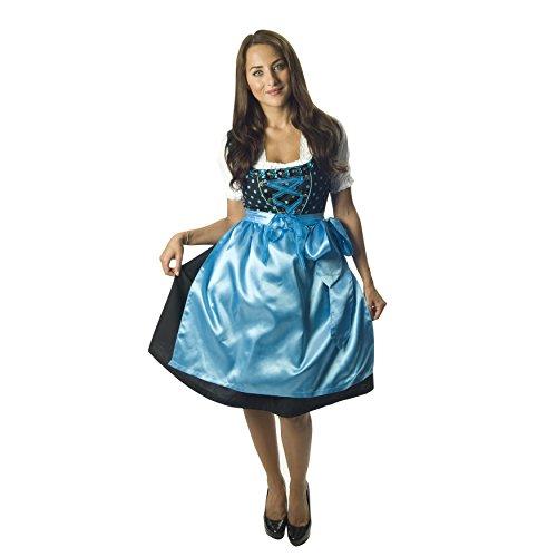 Zoelibat - Costume da bavarese Donna, incl. grembiule e blusa, XXXll, 3 pz., Multicolore