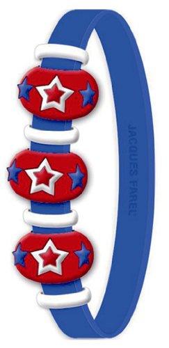 Jacques farel silicone nana-pop-bracelet cordon etoiles-bleu a38806dc163