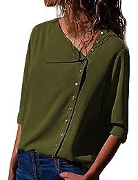 08ab642d59 Amazon.es  Verde - Blusas y camisas   Camisetas