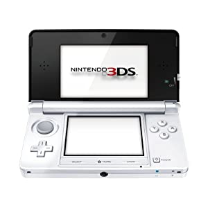 Nintendo Handheld Console 3DS - Ice White Bundle with Super Mario 3D Land